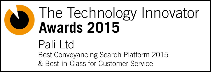 Technology Innovator Awards - Best Conveyancing Search Platform and Best-in-Class for Customer Service 2015