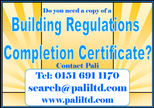 Building Regulations Completion Certificate for Bolton Borough Council